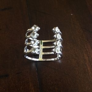 Stella and Dot Silver and Bling Ring